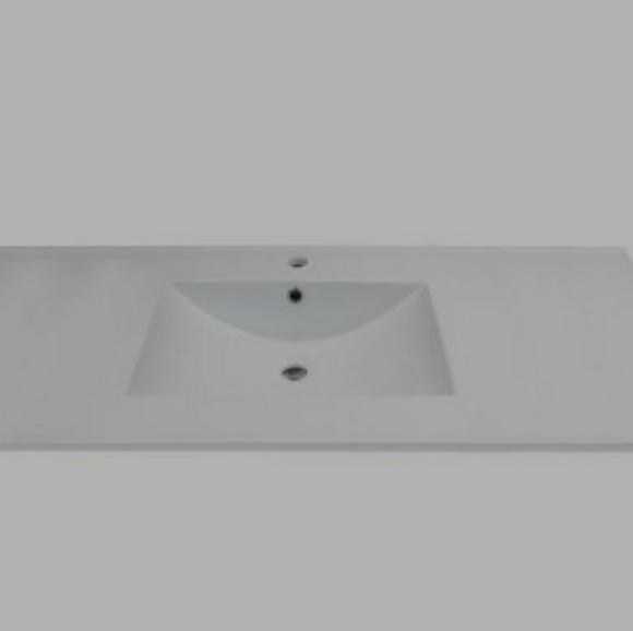 Lexora Other - White Marble Square Basin